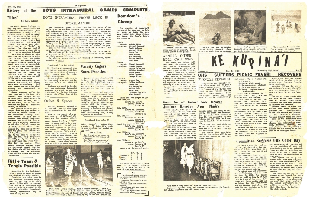 ke kupinai school newspaper 11.26.1952