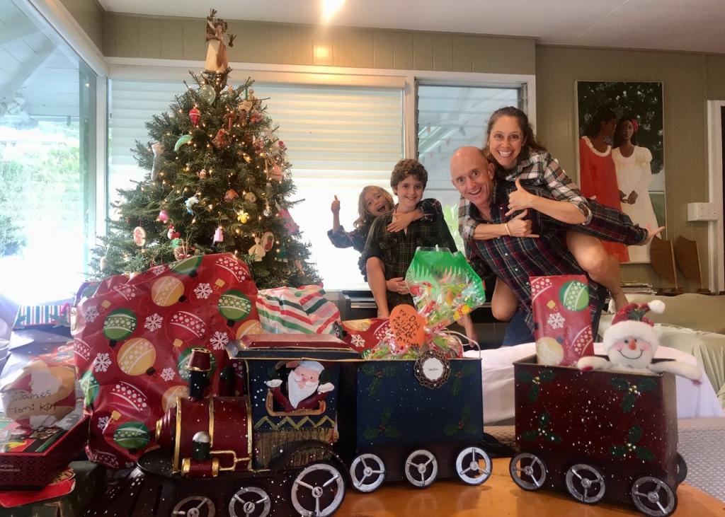 Kim Richmond and family at Christmas
