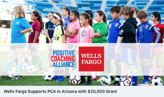 Shot of Rich Tomey's Positive Coaching Alliance kids.
